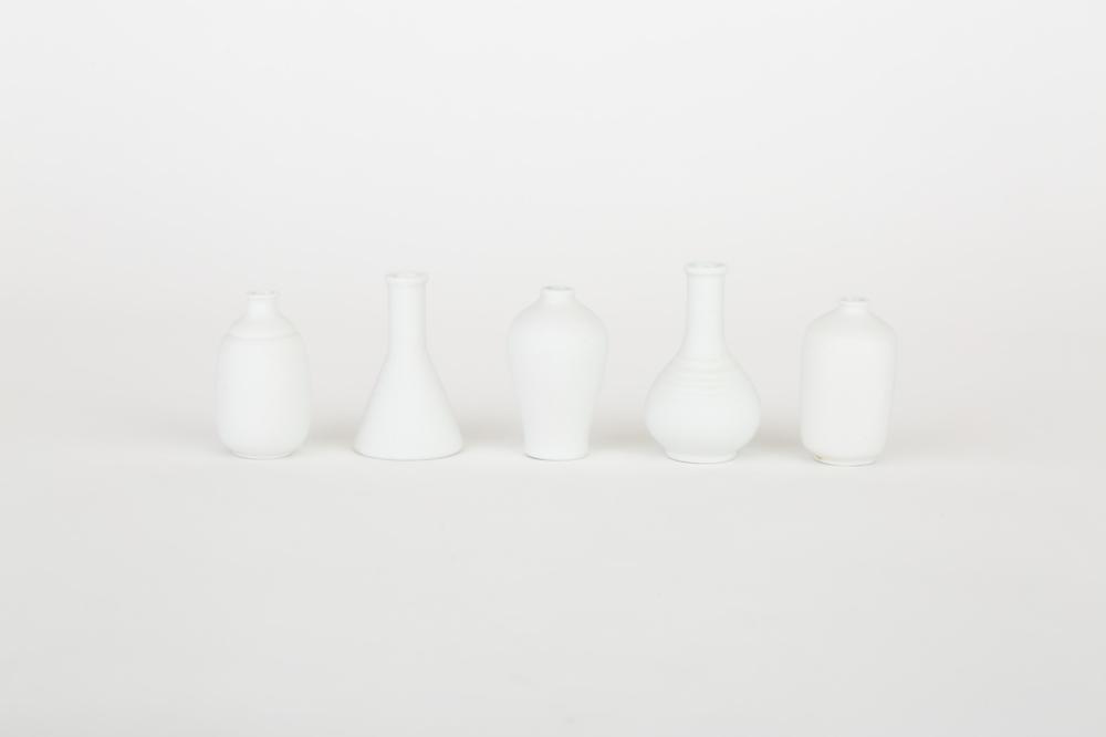 白磁 梅瓶型涙壷