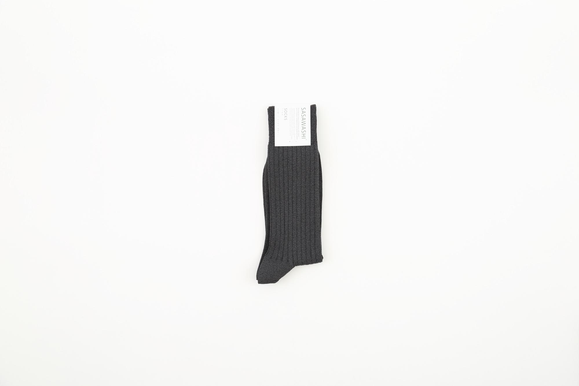 メンズリブ靴下 L