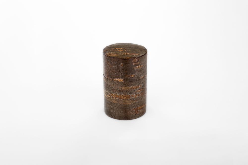 総皮中型茶筒 チラシ