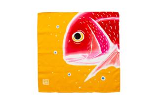 大漁旗のハンカチ 鯛