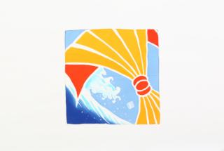 大漁旗のハンカチ 熨斗と波