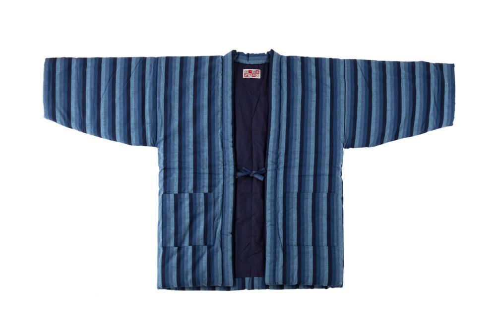 【予約商品受付用 】宮田織物 藍調袢天 大判 カツオ縞2L(袢天用ギフトラッピング)