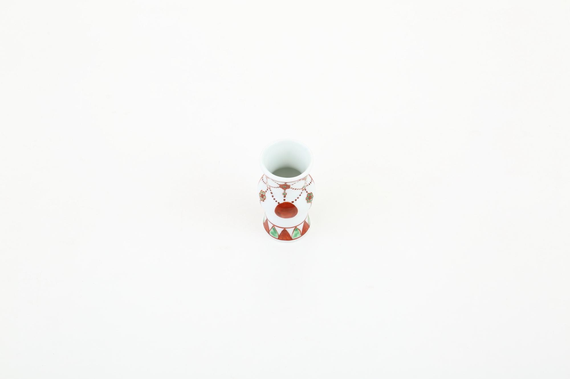 赤絵 中蕪型涙壷