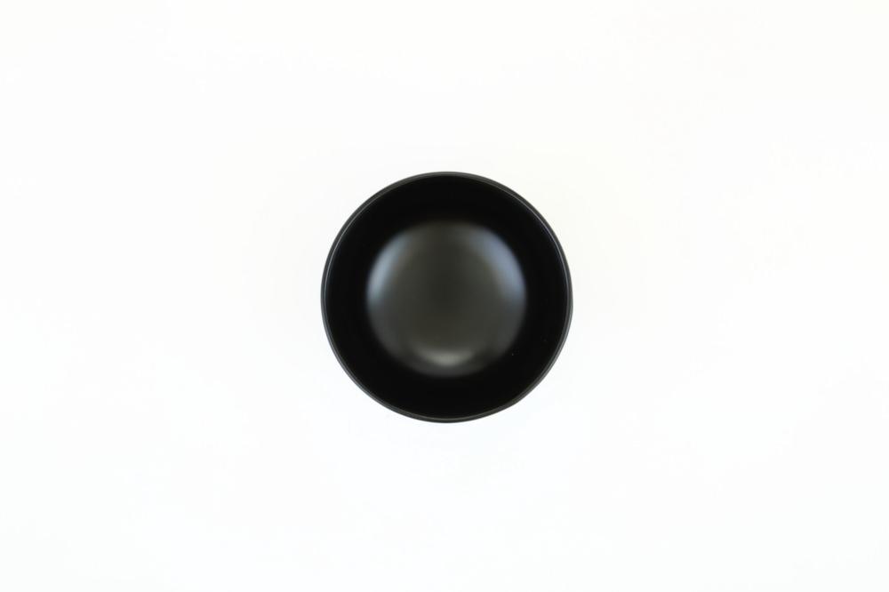 汁椀 花塗り・黒