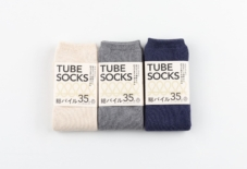 【UNA PRODUCTS】TUBE SOCKS かかとがない靴下。総パイル編みで暖かな履き心地