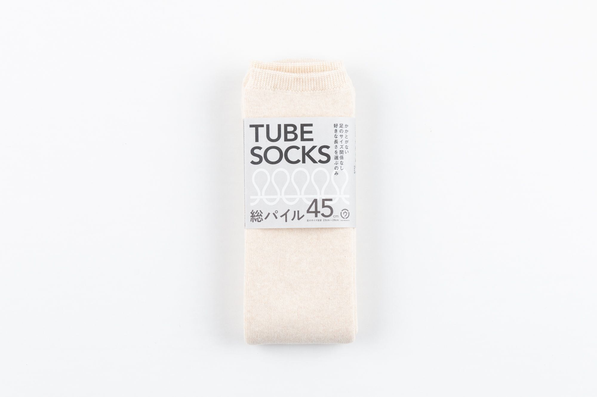 TUBE SOCKS パイル 45㎝ ベージュ