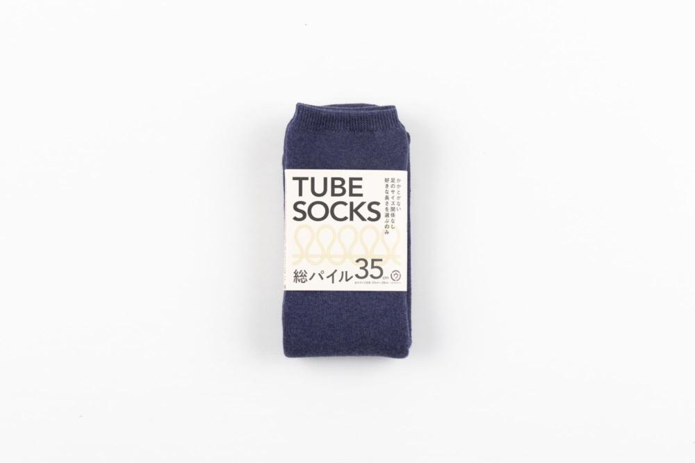TUBE SOCKS パイル 35㎝ ネイビー