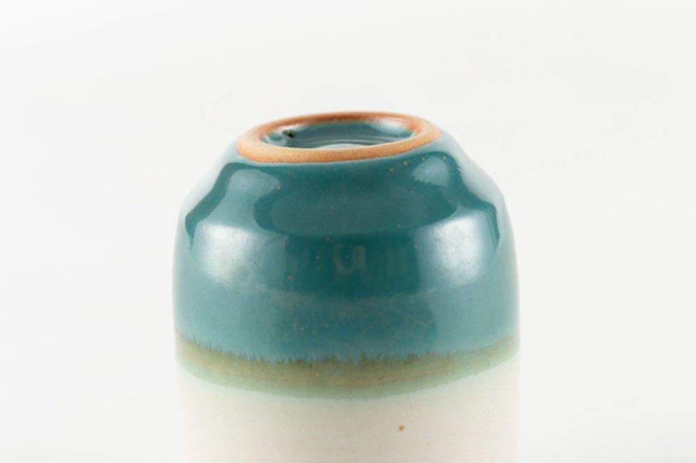 昇龍窯 上野焼ティーセット 上野緑釉 × マットホワイト 箱入り