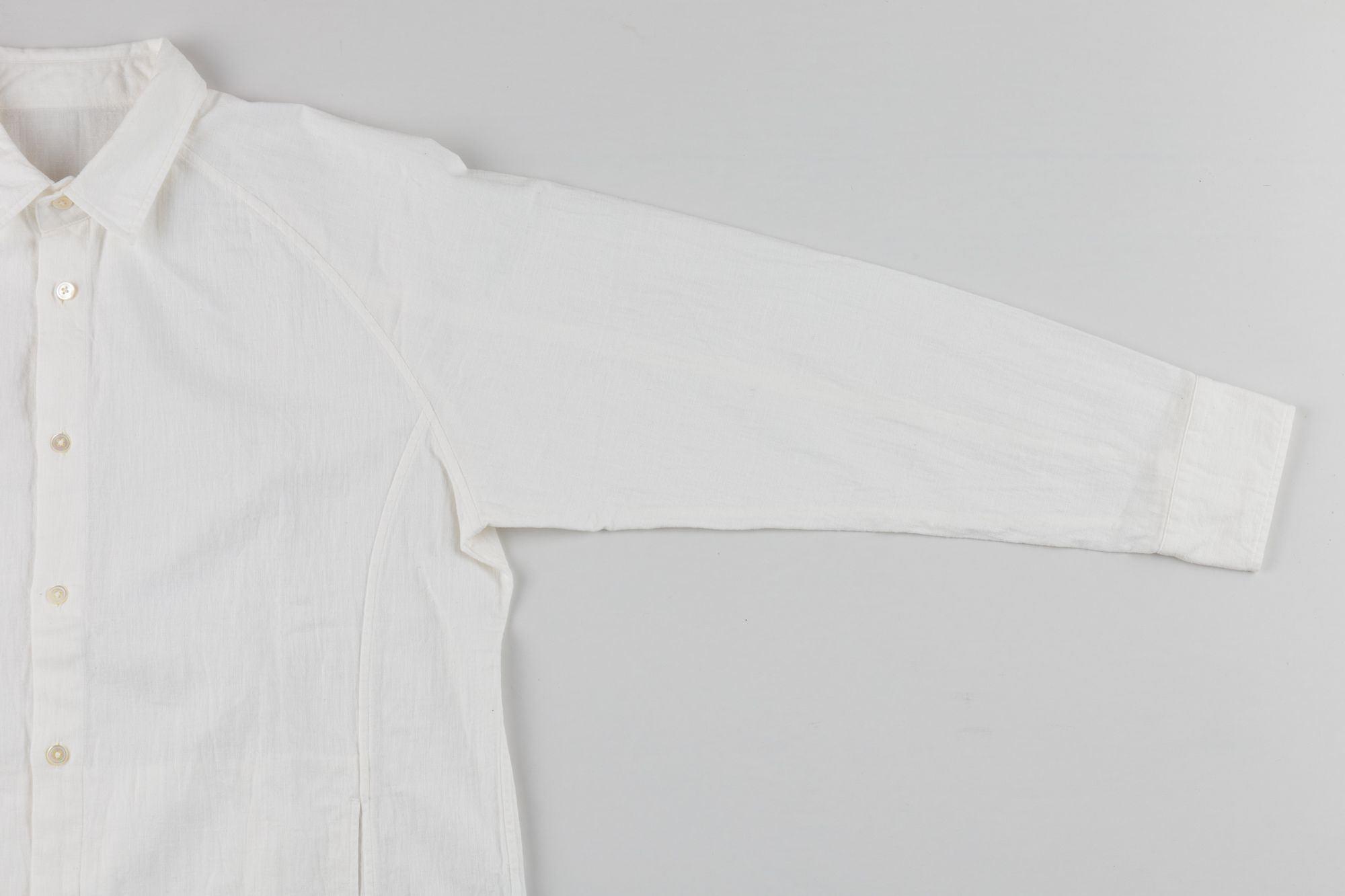think futu シャツ 白  東播染工 × 唐津シャツ工房 × うなぎの寝床