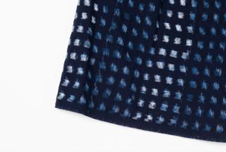 スカート クリエイティブチャレンジNo.1下川織物 経緯注染絣