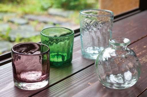 日常食器としての再生・手吹きガラス